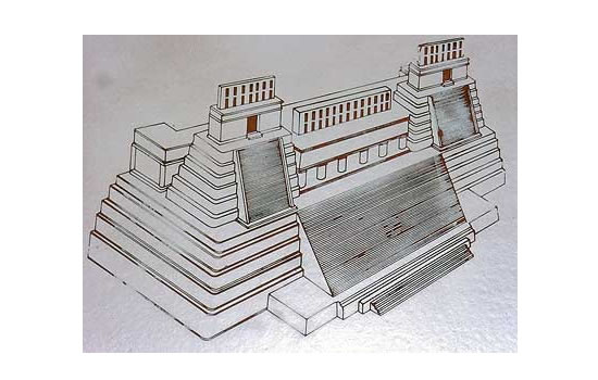 Becan Temple 4 Drawing Small