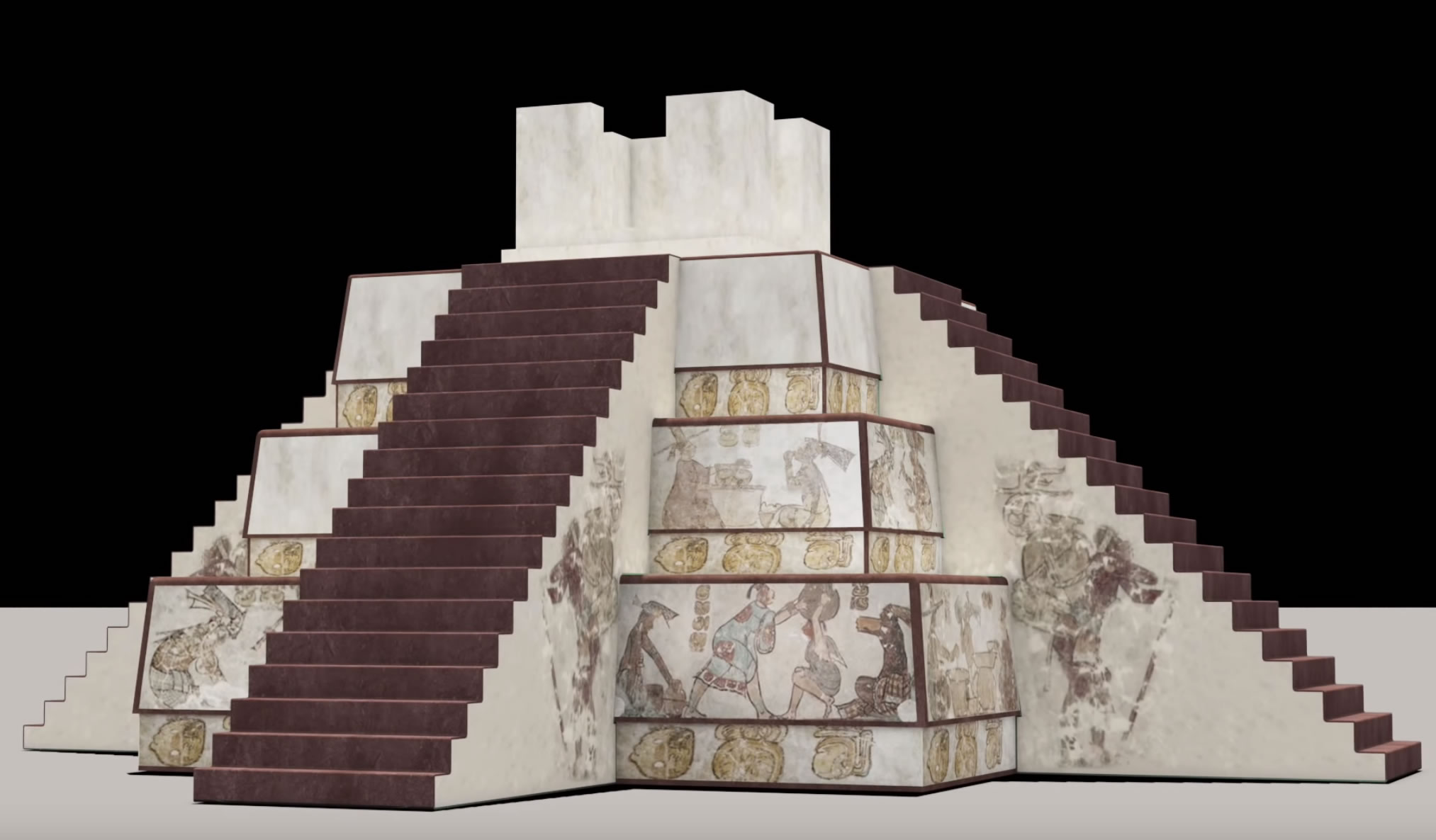 INAH Video Reconstruction Murals Painted Pyramid